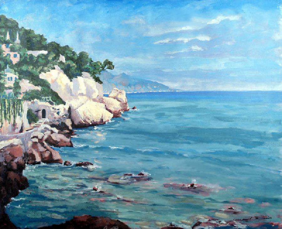 Coast Near Cap D Ail by Sir Winston Churchill.jpg