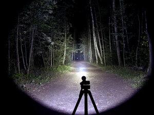Тактический фонарь - NiteCore P16 XM-L2 T6 светит так: Максимальный режим, iso 200
