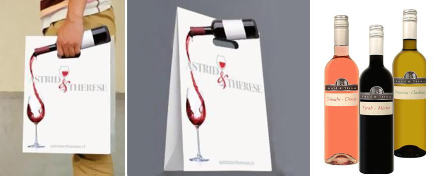 12. Дизайн пакета магазина элитных вин Astrid & Therese.