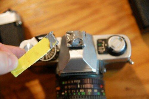 Винтажная лампа из старых фотоаппаратов