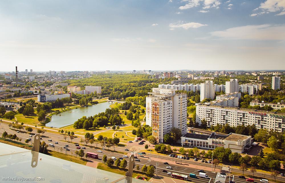 Минск, Национальная библиотека, смотровая площадка, проспект Независимости