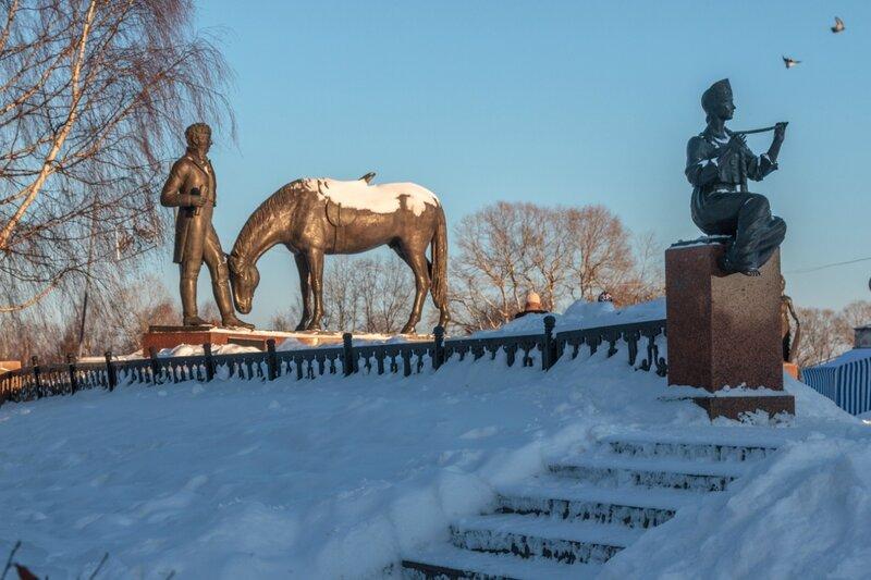 Памятник К. Батюшкову и Муза со свирелью, Вологда