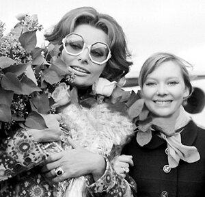 Софи Лорен и Людмила Савельева.