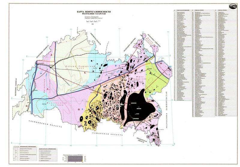 rus-map.ru: Карта нефтегазоносности Татарстана