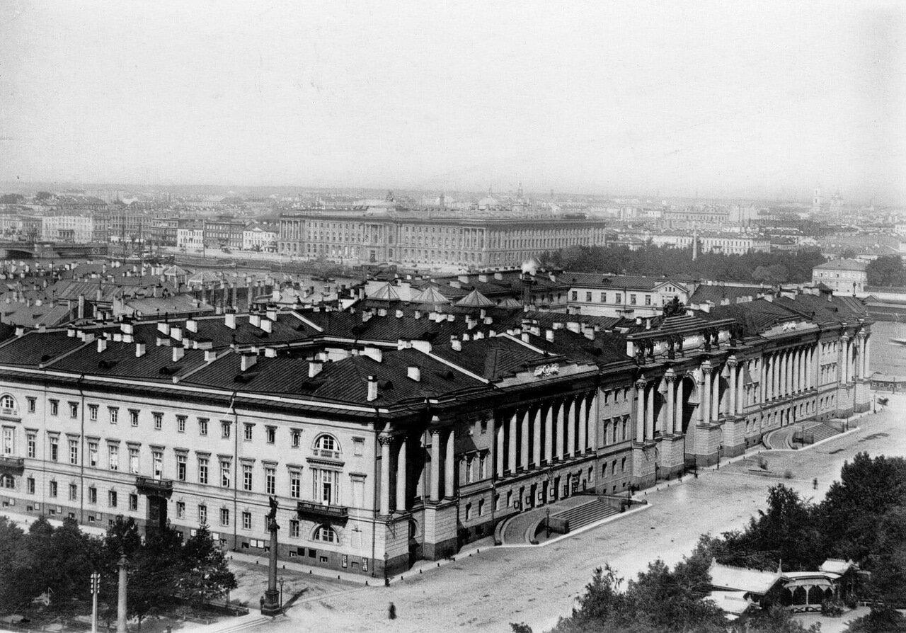 01. Вид с собора святого Исаакия Далматского на здания Сената и Синода. 1913