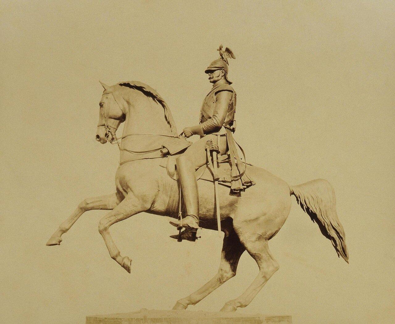 Вид конной статуи императора Николая I. 1859