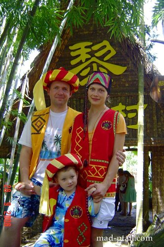 деревня ли и мяо, хайнань, китай
