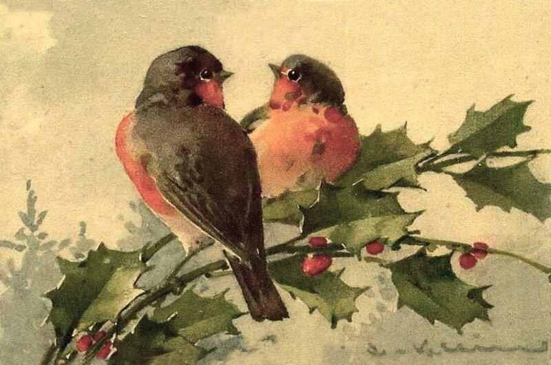 К. Кляйн. Рождественская открытка.