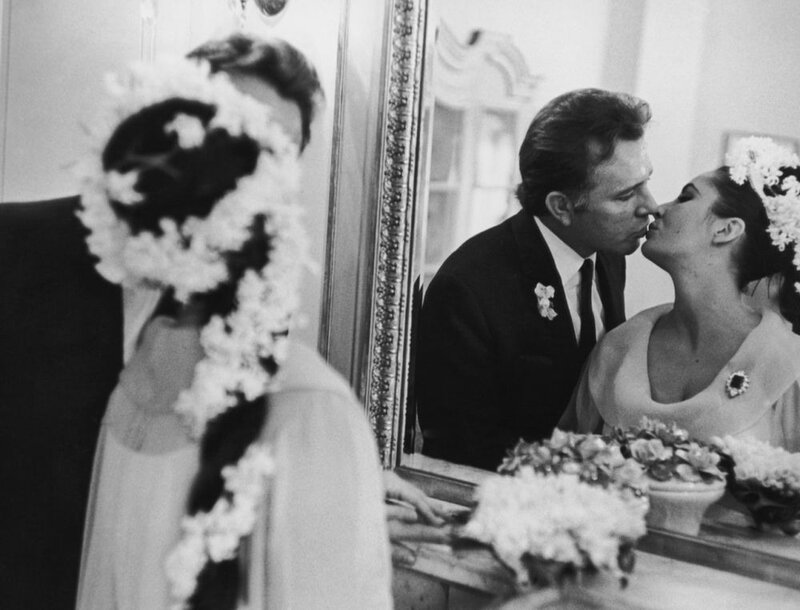 15th March 1964:  Actress Elizabeth Taylor marries her fifth husband Richard Burton