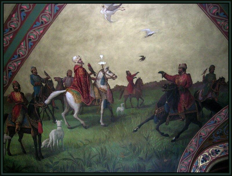 Иван Грозный на соколиной охоте.