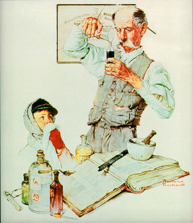 50-и, открытки о аптеке