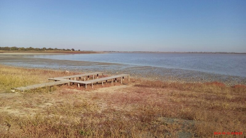 На Северо-Крымском канале в районе Красноперекопска построена дамба фото