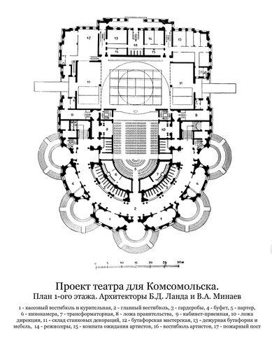 Проект театра для Комсомольска, план