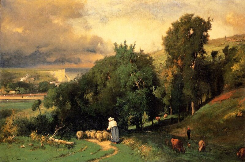 Inness George. Hillside at Etretet