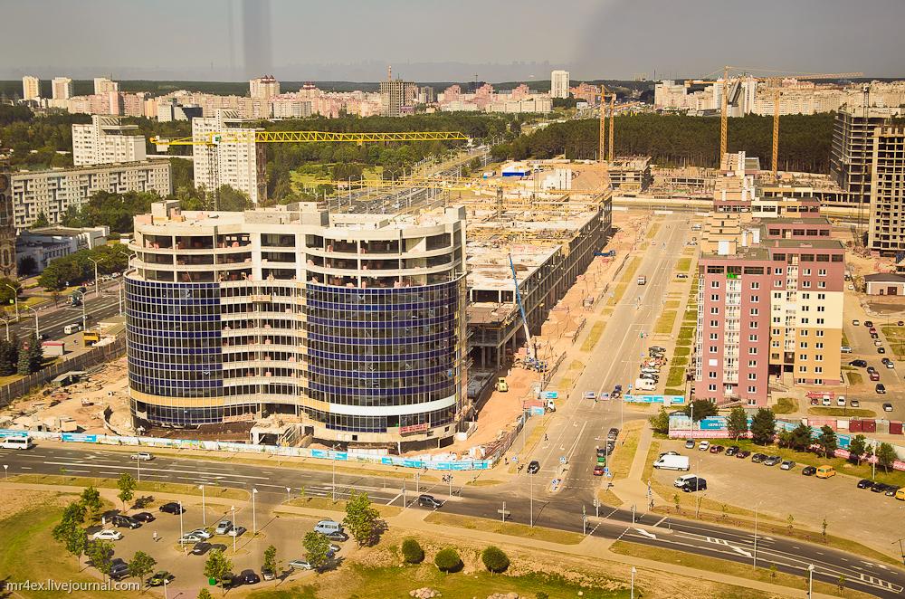 Минск, Национальная библиотека, смотровая площадка
