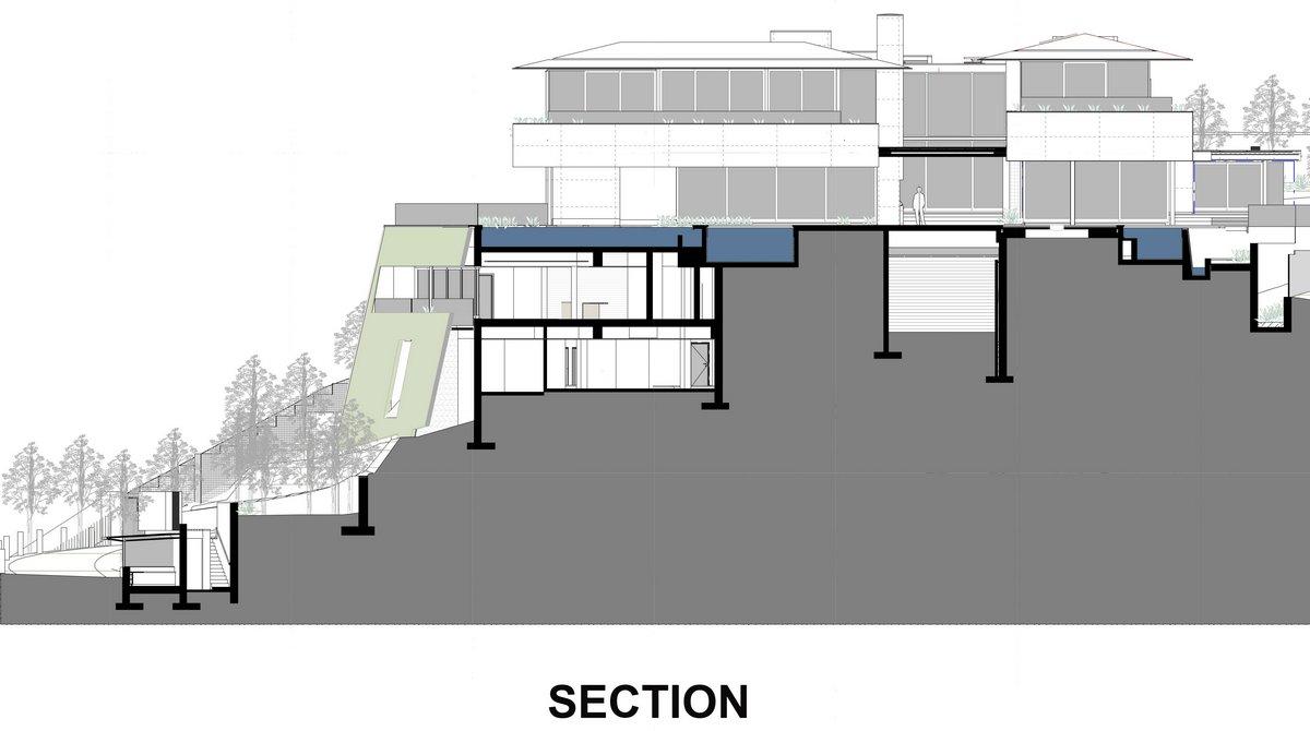 план дома, проект частного дома, SAOTA, проекты SAOTA, OVD 919, особняк на горе, дом с видом на океан, дом на берегу океана, обзоры роскошных домов