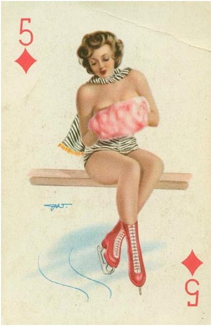 игральные голые карты