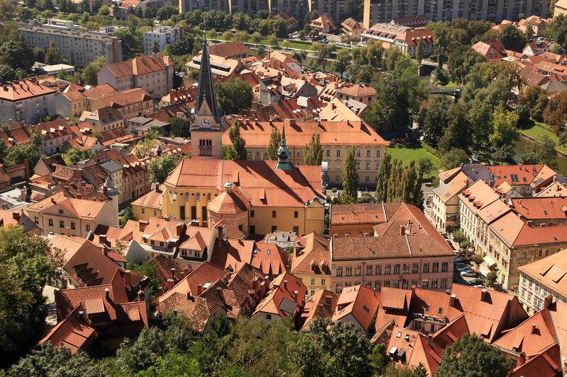 Любляна (Ljubljana) - столица Словении