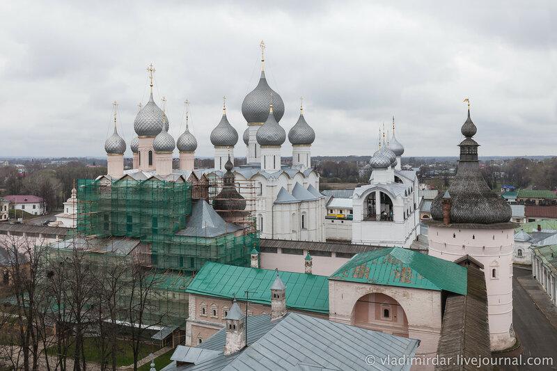 Ростовский кремль. Вид со смотровой площадки Водяной башни.