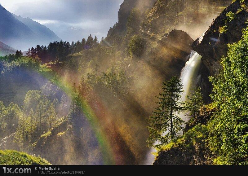 Rainbow at Lillaz Waterfalls