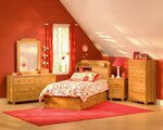 wooden kids bedroom design pictures