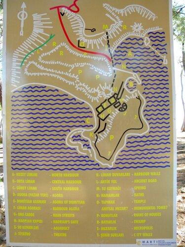 Турция. Фаселис - карта*