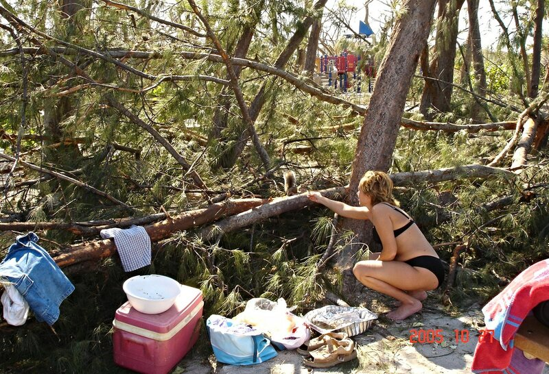 После урагана во Флориде.