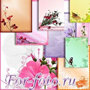 Фоны для открыток и рамочек 1