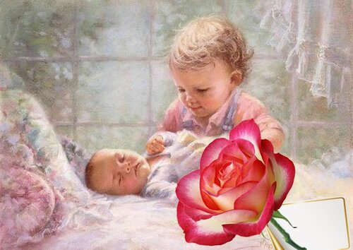 Корзина цветов, поздравления с рождением сестренки картинки