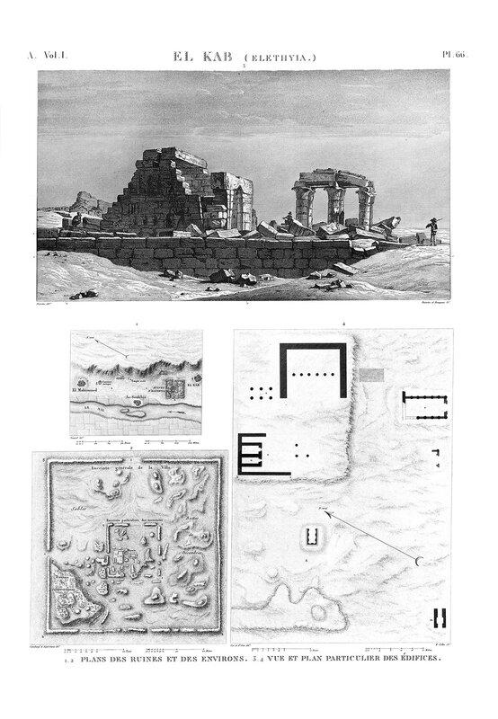 Крепость Нехеб, расположенная на правом берегу Нила, генеральный план, общий вид и