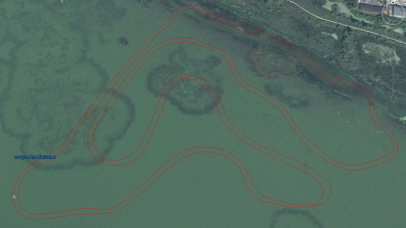 Схема трасы змейка на озере Алебашево