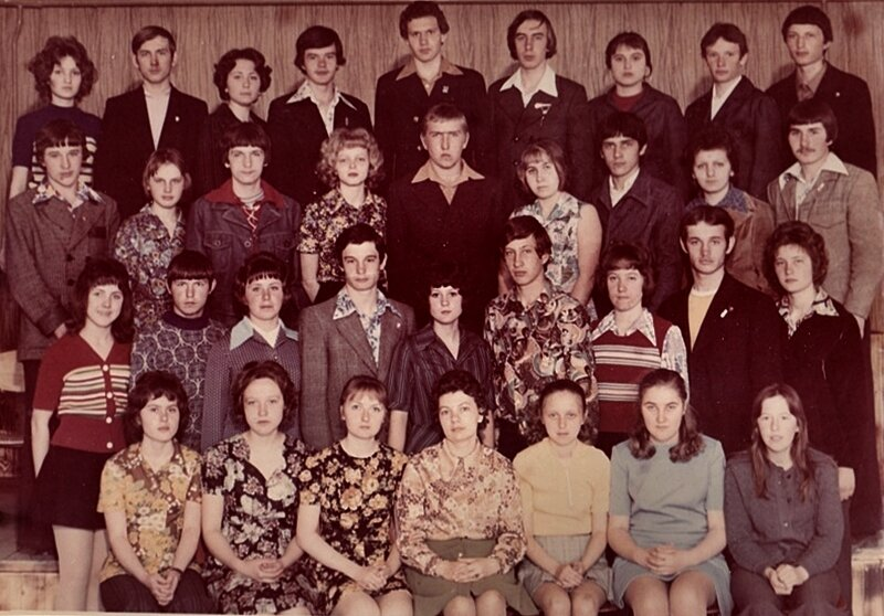 Школьная групповая фотография 1978 год.