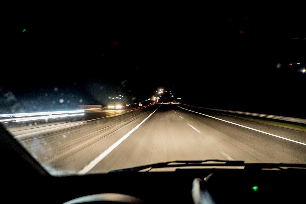 фото ночной дороги из авто может обернуться