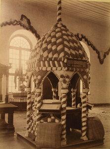 Вид экспонатов фабрики Я.И. Панфилова в фабричном отделе выставки.