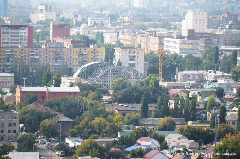 Вид на Саратов, район аэропорта,15 сентября 2014 года