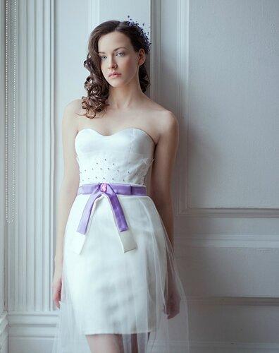 Копия свадебное корсетное платье необычное Diana Pavlovskaya