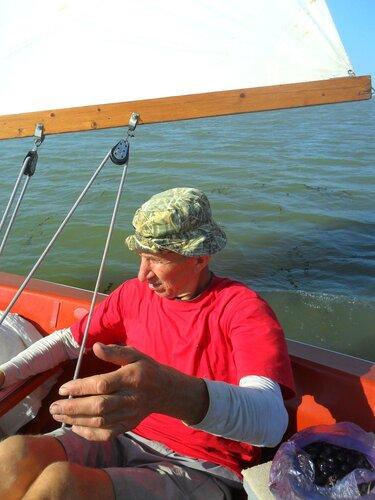 На яхте, первое сентября, 2014 год, Азовское море, Кубань