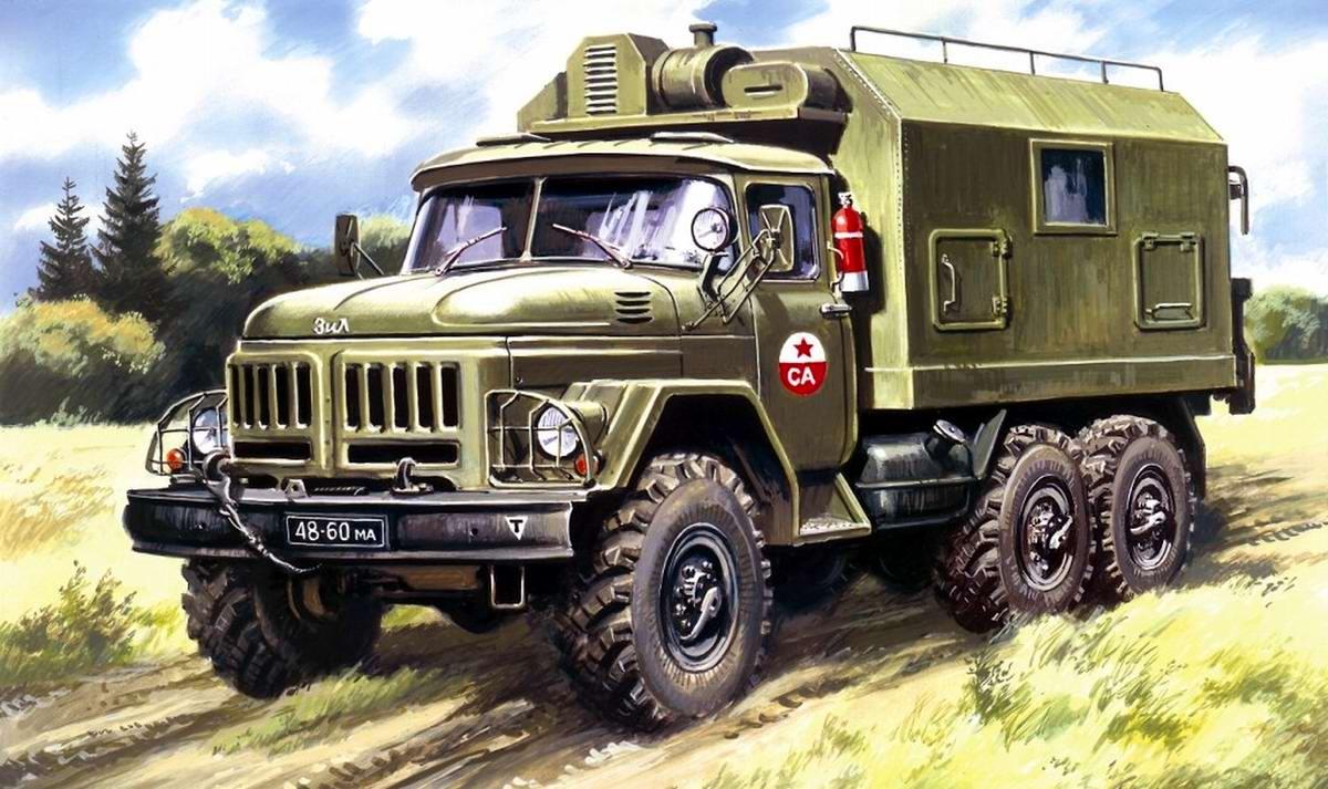 Армейский грузовой автомобиль ЗИЛ-131 - Подвижный командный пункт