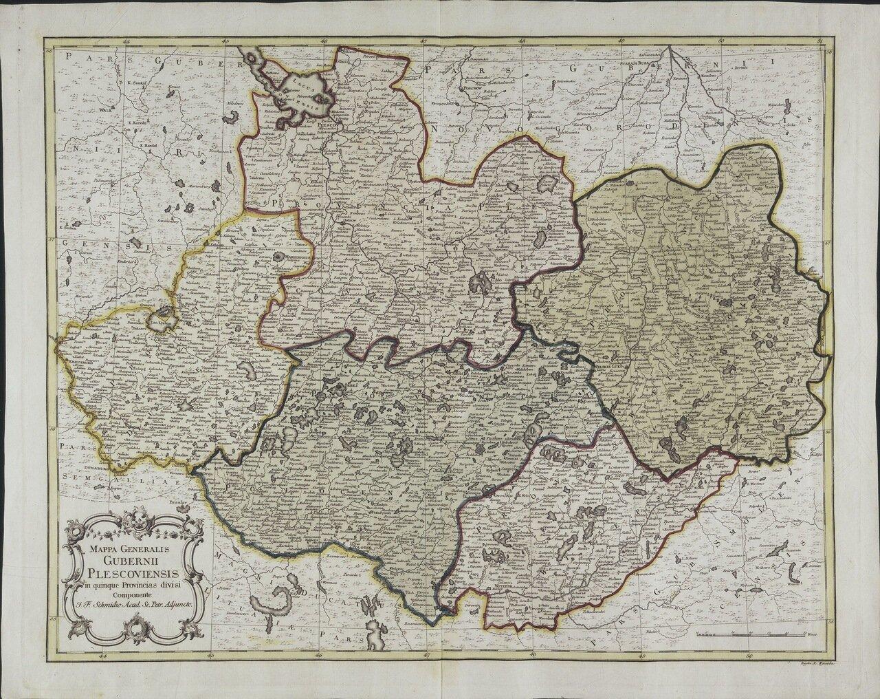 1750. Генеральная карта Псковской провинции