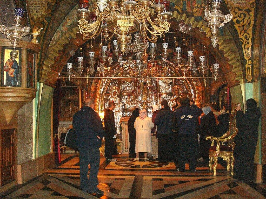 Иерусалим, Храм Гроба Господня. На Голгофе