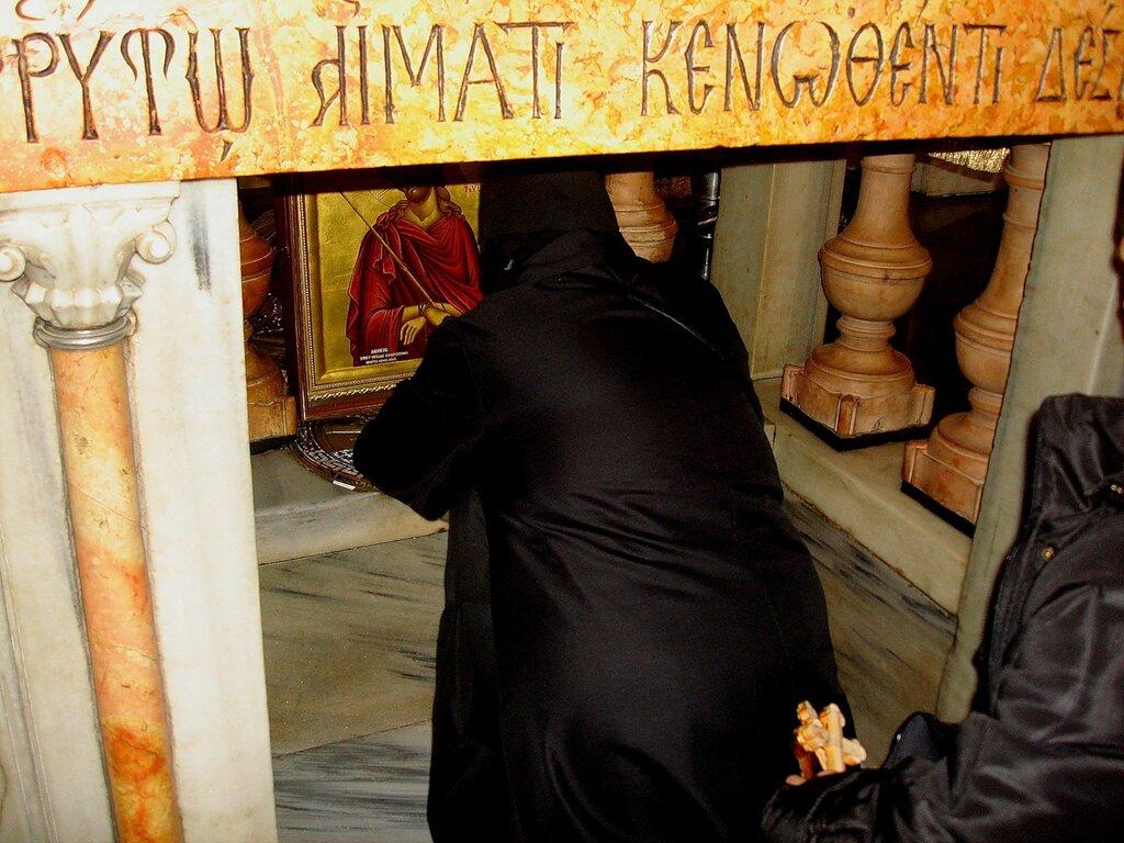 Иерусалим, Храм Гроба Господня. Голгофа, место, где был установлен крест Господень