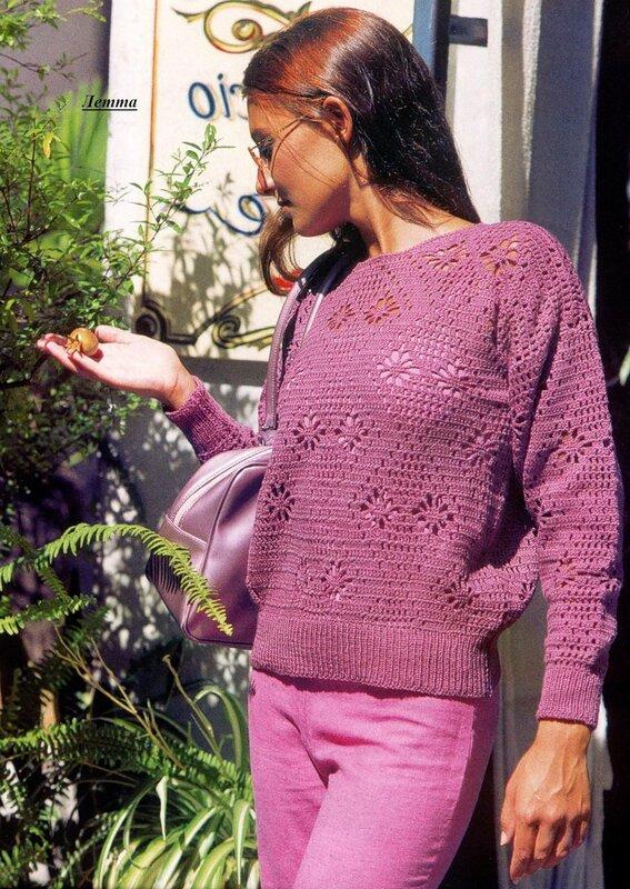 Вяжем пуловер из тонкой пряжи
