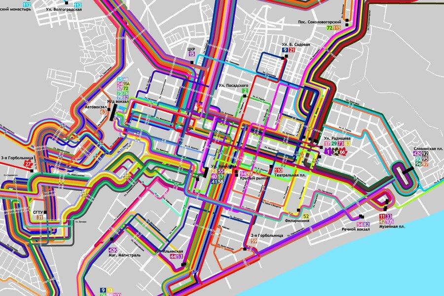 Схема автобусов и маршрутных