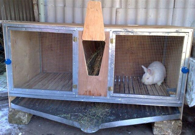 Клетки для кроле своими руками