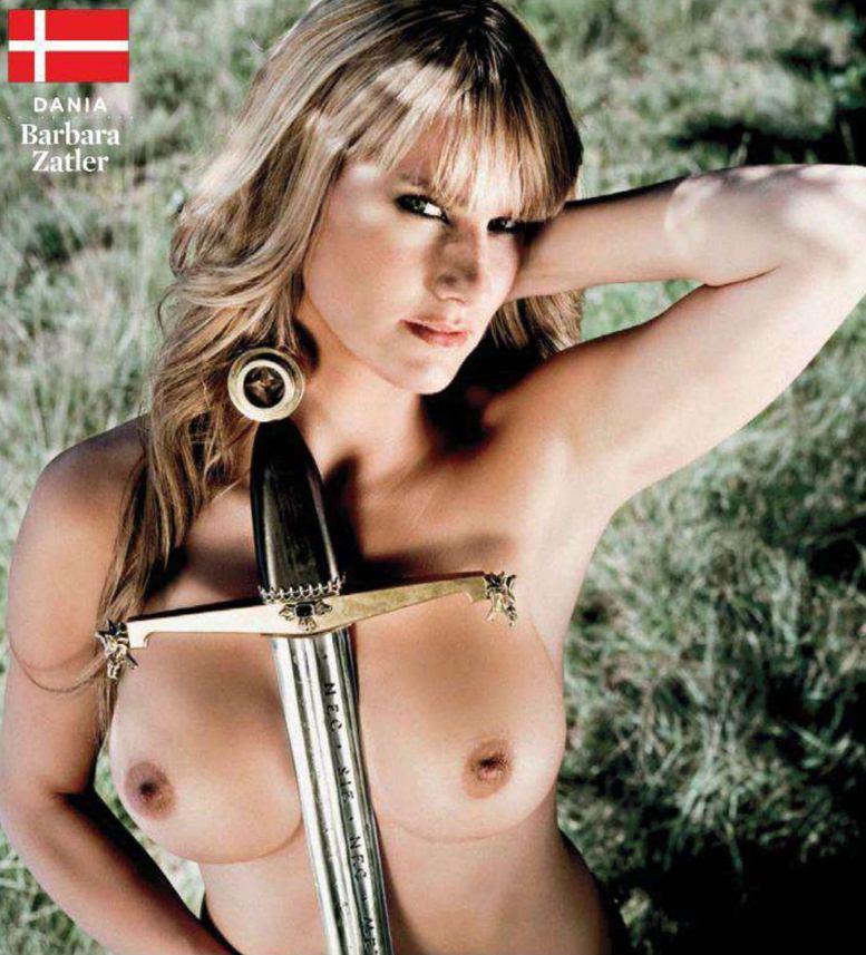 Страны-участницы Евро-2012 в журнале Playboy представляют его модели - Barbara Zatler - Дания / Плейбой Польша, июнь 2012