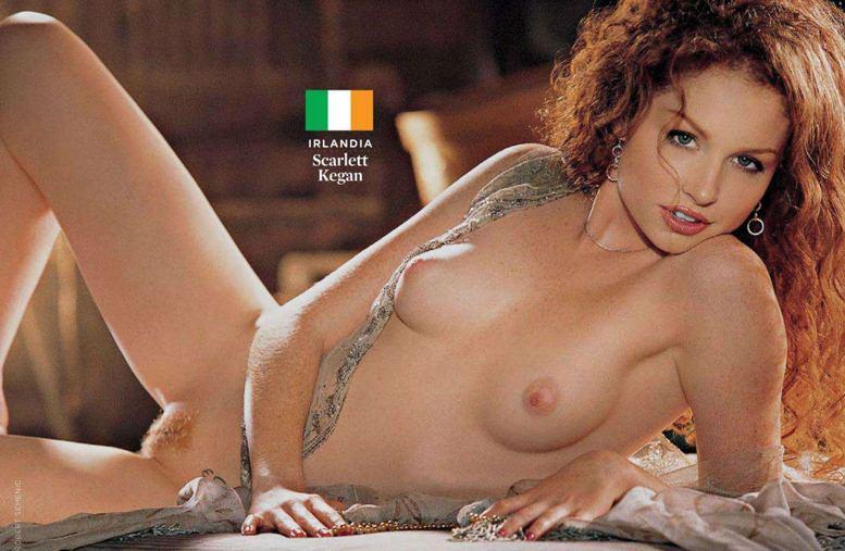 Страны-участницы Евро-2012 в журнале Playboy представляют его модели - Scarlett Kegan - Ирландия / Плейбой Польша, июнь 2012