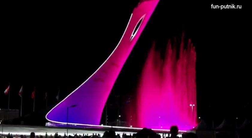 Фонтан в Олимпийском парке