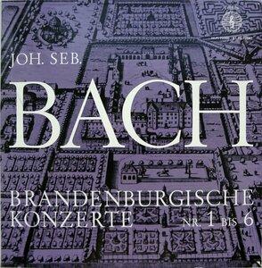 J.S. Bach. Die sechs Brandenburgischen Konzerte BWV 1046-1051 (1964) [Orbis, HI-FI 72 666 - ST PL 72 667]