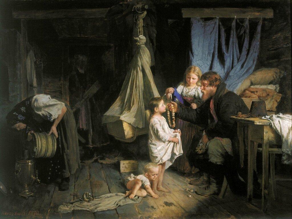 0464.Korzuhin.Alekseiy.Vozvrashenie.iz.goroda.1870.holst.maslo.63h89.sm.jpg