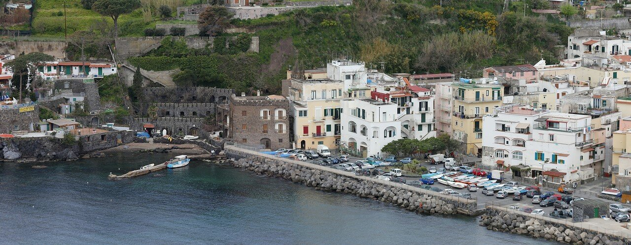 Ischia. The views from the monastery terraces of the Aragonese castle